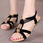 hot Lady Bohemia Beads Slipper Flip Flops Flat Sandals Beach Thong Shoes Summer