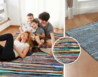 Chindi Rag Rug Small X Large Handmade Denim Multi-Colour Rugs Area Mat Recycled