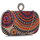 <div>Women's Peacock Pattern Sequins Clutch Evening Bag Ladies Prom Party Purse New</div>