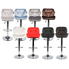 Set of 2 Bar Stools PU Leather Adjustable Swivel Hydraulic Dining Chair Counter