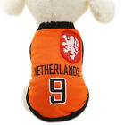 2018 World Cup football team small pet dog summer clothing coat cat vest cotton