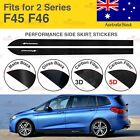 For BMW F45 F46 2 Series M Performance Side Skirt Sill Vinyl Decal Stickers AU