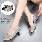 Внешний вид - New Women's Peep-toe Latin Shoes Mesh Ballroom Party Tango Salsa Dance Heels