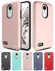 for LG Zone 4/ Fortune 2/ K8+2018 Hybrid Dual Layer Impact Case Cover+Prytool