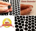 BLACK & WHITE ~ 15mm Diameter ~ Selfadhesive HOOK AND LOOP Tape Coins Dots Spots