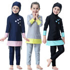 Islamic Child Girls Full Cover Swimwear Modest Swimsuit Arab Muslim Beachwear