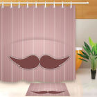 mustache shower curtain - Stripes Mustache Father's Day Shower Curtain Liner Bathroom Polyester Fabric 72