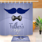 mustache shower curtain - Father's Day Blue Mustache Shower Curtain Liner Bathroom Decor Polyester Fabric