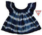 NWT GUESS Toddler Girls Blue & White Off-the-Shoulder Top(Size 2T) MSRP$32.50