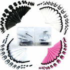ear gauge kits - Ear gauging stretching kit 36 pieces Acrylic 36 pieces tapers/plugs kit