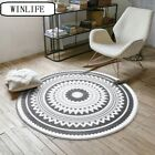 Geometric Carpets Tea Table Mats Round Area Rugs Anti-Skid Mats For Living Room