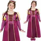 Girls Tudor Girl Costume Victorian Maid Marion Book Week Fancy Dress Outfit