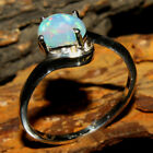 Natural Ethiopian Opal Gemstone Multi Color 925 sterling silver Valentine Ring
