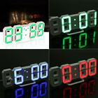 Modern Digital LED Desk Wall Clock Watches 24 or 12-Hour Display Alarm Snooze