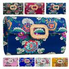 New Flower Embroidery Satin Diamante Decoration Ladies Evening Clutch Bag