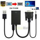 1080P VGA Male To HDMI Output HD  Audio TV AV HDTV Video Cable Converter Adapter