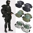 Tactical Military Skate Elbow Knee Pads Airsoft Combat Protective Set Adjustable