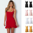 all white cocktail party dresses - Women Sling Slim Dress Mini Skirt Plain Summer Sexy Cocktail Party All Sizes NEW