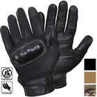 Tactical Hard Knuckle Leather Gloves Cut Fire Resistant Protection Military Army