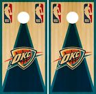 Oklahoma City Thunder Cornhole Wrap NBA Game Board Skin Vinyl Decal Wood CO671 on eBay