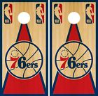 Philadelphia 76ers Cornhole Wrap NBA Game Board Skin Vinyl Decal Vintage CO683 on eBay