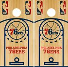 Philadelphia 76ers Cornhole Wrap NBA Game Board Skin Vinyl Decal Court Set CO686 on eBay