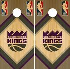 Sacramento Kings Cornhole Wrap NBA Game Skin Board Vinyl Decal Wood Set CO702 on eBay
