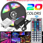 5M RGB 5050 Waterproof LED Strip Light SMD+44 Key Remote+12V USA Power Full Kit