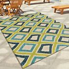 RUGS AREA RUGS INDOOR OUTDOOR RUGS 8x10 OUTDOOR CARPET GREEN BLUE PATIO RUGS NEW