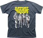 Support Our Troops Stormtrooper Rebel STAR WARS inspired charcoal t-shirt 9338 $17.03 USD on eBay