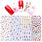 3D Nail Stickers Rabbit Carrot Strawberry Manicure Nail Art Transfer Decals DIY
