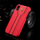 For iPhone XS Max XR XS Polycarbonate Plastic Ferrari Logo Protective Case Cover