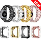 For Apple Watch Series 3/2/1 Stainless Steel Wrist iWatch Band Strap+Case Cover image