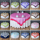 Embroidered Organza TABLE OVERLAYS Wedding Catering Event Dinner Decorations