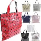 New Ladies Geometric Large Design Shopper Bag Handbag Glossy Stylish