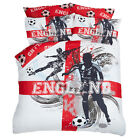 Dreamscene England Football Duvet Cover with Pillow Case Bedding Set, Red White
