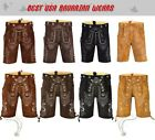 New Authentic Bavarian Oktoberfest Trachten Men Wear Short Lederhosen Outfit