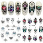 3D Lolita Punk French Butterfly Flower Nail Art Water Decal Transfer Stickers HP