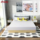Premium Bamboo Waterproof Mattress Protector Queen Size Machine Washable Pad 2PC image