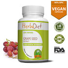 PURE Grape Seed Plus Extract 95% OPC 500mg Vegan Capsules Antioxidant Support