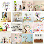 Owl Cartoon Animal Flower Branch Wall Sticker Home Bedroom Kids Baby DIY Decals