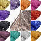 "54"" wide x 12 feet SEQUINED FABRIC DIY Crafts Sewing Wedding Party Decorations"