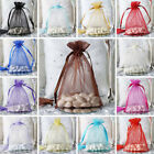 300 pcs 6x9 inch ORGANZA Fabric BAGS - Wedding FAVORS Drawstring Gift Pouch