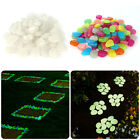 100pcs Glow in the Dark Pebbles Stone Home Garden Walkway Aquarium Fish Tank Hot