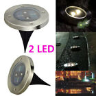 3/4/5/8 LED Solar Power Buried Lights Under Lamp Outdoor Path Way Garden Lamps
