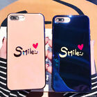 Lovely Pink Letter Smile Phone Case For iPhone X 8 Silicone Cases Back Cover hot