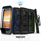 TANK COVER CASE & HOLSTER FOR [MOTOROLA MOTO E5 SUPRA / E5 PLUS] +BLACK GLASS