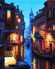 DIY Scenery Paint By Number Kit Acrylic Oil Painting Art Wall Decor Night Scene