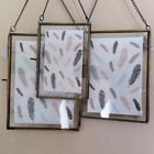 Antique Brass and Copper Glass Hanging Vintage Photo Frames Picture Frames