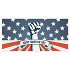 Patriotic American Flag with Fist Happy 4th of July Party Banner Decoration